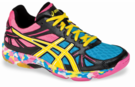Asics Gel-Flashpoint Squash / Indoor Court Women's Shoes, Black / Yellow / Pink