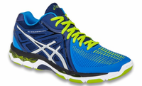 Asics Gel Netburner MT Ballistic Men's Court Shoes, Navy / Silver / Electric Blue