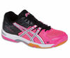 Asics Gel Rocket 6 Women's Squash / Volleyball Shoes, Pink / Silver / Black
