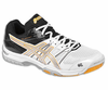 Asics Gel-Rocket 7 Men's Court Shoes, White / Silver / Yellow