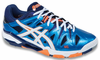 Asics Gel-Sensei 5 Men's Squash / Indoor Court Shoes, Blue / Orange