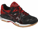 ASICS Gel-Tactic Women's Court Shoes, Black / Fiery Red