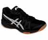 Asics Gel Upcourt GS Junior Squash / Indoor Court Shoes, Black / Silver