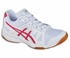 Asics Gel Upcourt GS Court Junior Shoes, White / Raspberry / Silver
