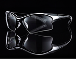 Black Knight Jr. Stiletto Goggles, Black/Silver