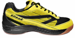 last few - Harrow Sneak Indoor Court Men's Shoe, Black / Yellow