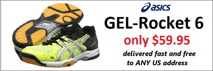 Asics GEL-Rocket 6 Yellow - Black