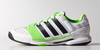 Adidas Adipower Stabil 11 Men's Court Shoes, White / Solar Green