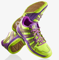 Salming 2016 Race R5 3.0 Women's Court Shoes, Yellow / Purple