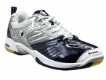 last few - Saxon SX900 Men's Court Shoes, Navy / White