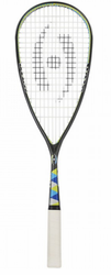2017 - Harrow Silk Squash Racquet, Black / Blue / Lime