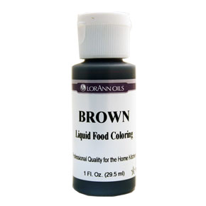 SALE PRICE! Brown Liquid Food Coloring - 1oz