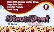 Stevita SteviaDent Sugar Free Natural Cinnamon Gum - 1 single blister pack of 12 pieces of gum