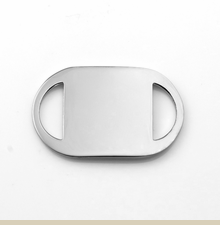 1 Inch 316L Stainless Steel ID Tag for Custom Bracelets - Item CR1875