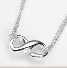 Sterling Silver Infinity Pendant with 16 Inch Cable Chain - Item DJP2020