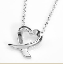 Sterling Silver Heart Necklace 5/16 x 3/8 Inch with 16 Inch Chain - Item DJP2017