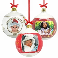 Bohemian Glass Ball Personalized Photo Ornament