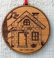 Our NEW Home Ornament New House Ornament Engraved Christmas Ornament P