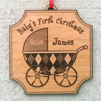 Personalized Baby's First Christmas Ornament Gift Christmas Ornament N