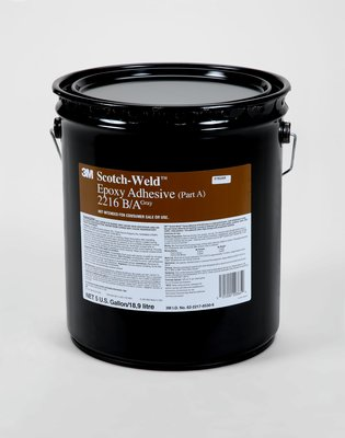 3M 021200-20365 Gray Scotch-Weld 2216 Part A Epoxy Adhesive - 5 Gallon Pail