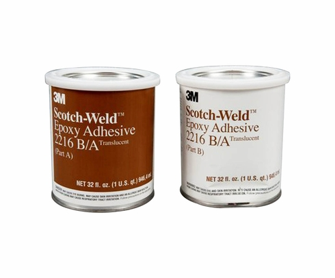 3M 021200-20854 Clear Scotch-Weld 2216 B/A Epoxy Adhesive - A+B Quart Kit