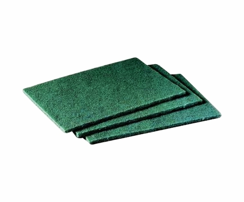 3M 048011-08293 Scotch-Brite 96 Green General Purpose Scouring Pad - 20 Pads/Box