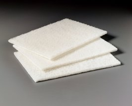 3M 048011-07445 Scotch-Brite 98 White Light Duty Cleansing Pad - 20 Pads/Box