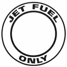 "AeroGraphics AG-FUEL-006 White/Black ""JET FUEL ONLY"" Round 4"" Placard"