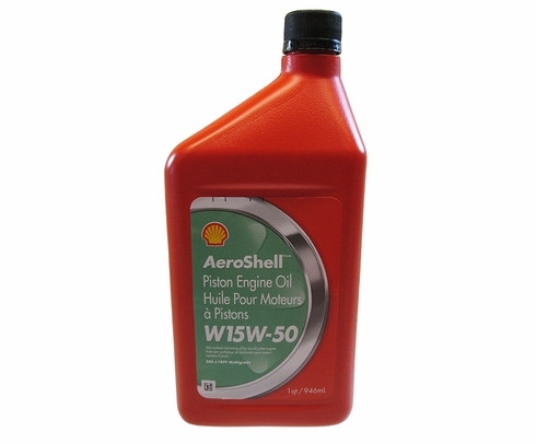 AeroShell Oil W 15W-50 Multigrade Aircraft Oil - Quart Bottle