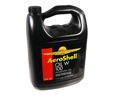 AeroShell Oil W100 SAE Grade 50 Ashless Dispersant Aircraft Oil - Gallon Jug