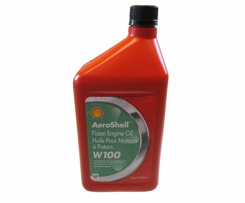 Aeroshell W100 SAE 50 Aircraft Oil - Quart Bottle