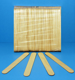 "American Fiber & Finishing CR14-043 Purewipe 6"" Paint & Epoxy Mixing Paddle / Stick - 50 Pack"