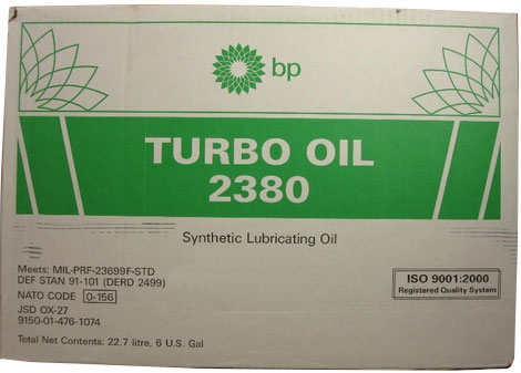 BP 2380 Aviation Turbine Oil - 24 Quart Case