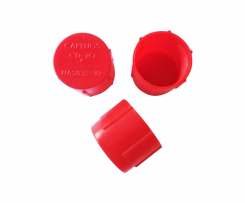 Caplug CD-10 Red 7/8-14 Threaded Plastic Dust & Moisture Cap (CLEARANCE)