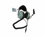 David Clark 12510G-21 Model H10-76 Low Impedance Military Aircraft Headset