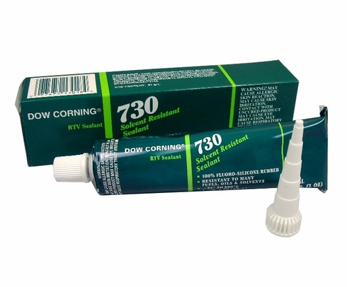 Dow Corning 730 White Solvent Resistant Sealant - 3 oz Tube