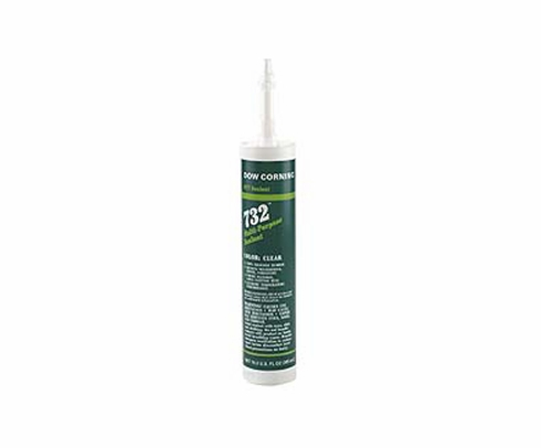 Dow Corning RTV-732 White Silicone Sealant - 300 mL Cartridge