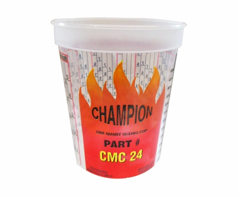 E-Z Mix CMC24 Champion Quart Plastic Mixing Cups - 100/Box - 32 oz