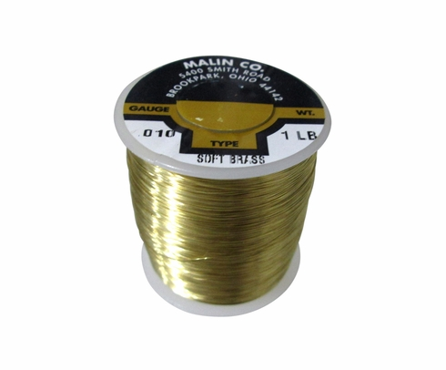 "Malin 26-0100-001S CDA 260 Soft Brass 0.0100"" #30 ASTM B134 Spec Breakaway Wire (1 lb Roll)"