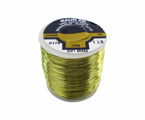 "Malin 26-0179-001S CDA 260 Soft Brass 0.0179"" #25 ASTM B134 Spec Breakaway Wire (1 lb Roll)"