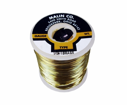 "Malin 26-0253-001S CDA 260 Soft Brass 0.0253"" #22 ASTM B134 Spec Breakaway Wire (1 lb Roll)"