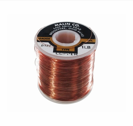 "Malin 11-0056-001S Copper 0.0056"" #35 Breakaway Wire (1 lb Roll)"