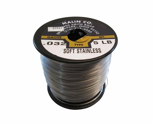 "Malin MS20995C32 Stainless Steel Safety Wire (5 lb. Roll) - 0.032"" Diameter - ASTM A580"
