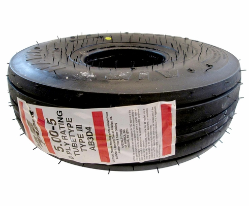McCreary AB3D4 5.00-5 6 Ply Air Hawk Aircraft Tire