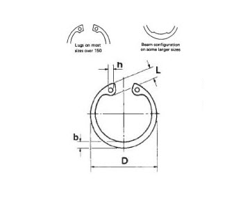 Military Specification MS16625-2077 Steel Ring, Retaining
