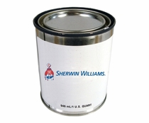 Sherwin-Williams Z01955QT JET GLO Express FED-STD-595 17038 Gloss Black Polyester Urethane Topcoat Paint  - Quart