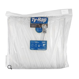 """Thomas & Betts TY28M Ty-Rap Natural 14.19"""" Cable Tie - 1000 Cable Tie/Pack"""