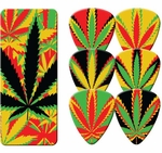 420 Leaves Guitar Pick Set