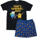 Adventure Time Bananas T Shirt Sheer Boxer Combo