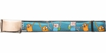 Adventure Time Finn and Jake Fist Bump Mesh Belt